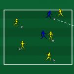 تمرین دفاع و دریبلینگ مخصوص مدرسه فوتبال و رده نونهالان و نوجوانان