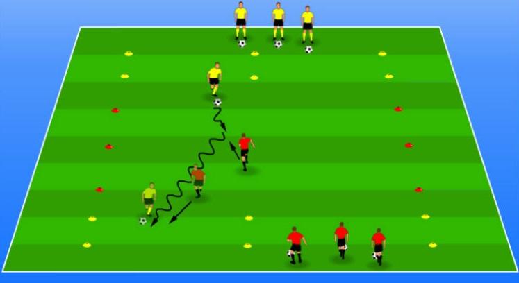 تمرین فوتبال برای خردسالان و کودکان