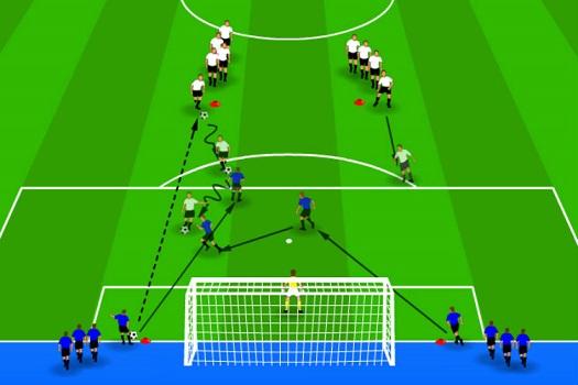 تمرینات و تاکتیک های دفاعی در فوتبال