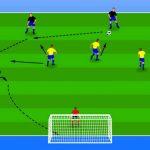 تمرینات حمله و دفاع گروهی در فوتبال مخصوص نونهالان مدرسه فوتبال
