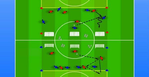 تمرینات اختصاصی مدافعان فوتبال ویژه نونهالان