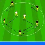 تمرین پاس و حمایت در فوتبال مخصوص سنین پایه و بزرگسالان
