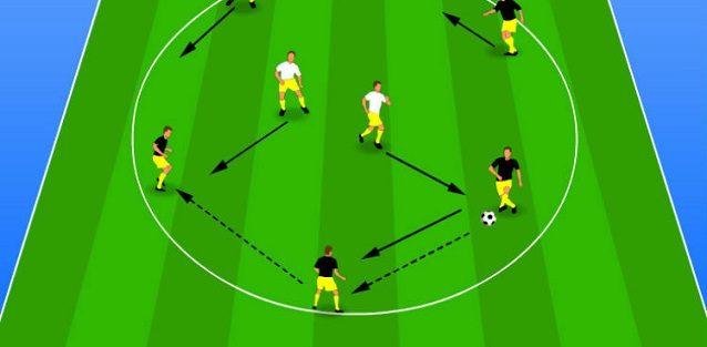 تمرین پاس و حمایت در فوتبال