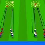 تمرینات فان مدرسه فوتبال و بزرگسالان (چابکی ، حمل توپ ، پاس)